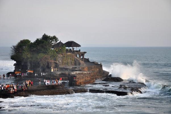 Tanah Lot Temple on Sea Bali